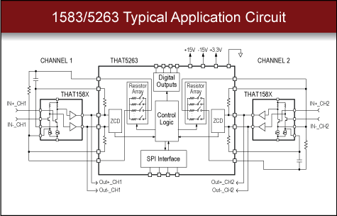 THAT 1583/5263 Digital Microphone Preamp Circuit
